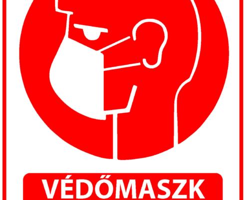 maszk használat kötelező tábla